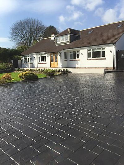 Decorative Pattern Imprinted Concrete Driveways Specialists for Mirfield, West Yorkshire.